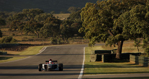 Alone car on Ascari race track
