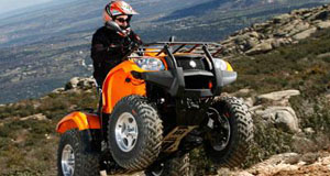 Quadbike in the hills