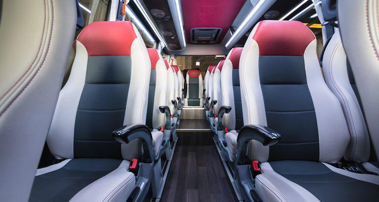 Inside of Executive Minibus